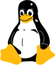 Linux penguin logo, by Budig